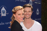 Actors KaDee Strickland (L) and Jason Behr attend the John Varvatos 10th Annual Stuart House Benefit presented by Chrysler, Kids Tent by Hasbro Studios, at John Varvatos Los Angeles on March 10, 2013 in Los Angeles, California.
