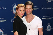 Actress KaDee Strickland (L) and actor Jason Behr attend John Varvatos 10th Annual Stuart House Benefit Presented by Chrysler, at John Varvatos Los Angeles on March 10, 2013 in Los Angeles, California.