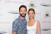 Actors Jason Behr (L) and Kadee Strickland attend the John Varvatos 12th Annual Stuart House Benefit at John Varvatos on April 26, 2015 in Los Angeles, California.