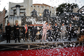 "Johnny Depp Jerry Bruckheimer Premiere Of Walt Disney Pictures' ""The Lone Ranger"" - Red Carpet"
