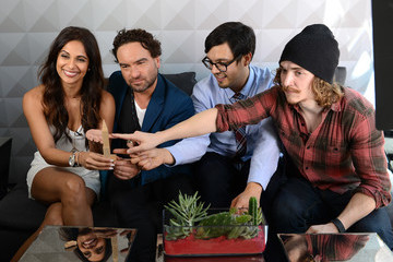 Johnny Galecki The Fast Company Grill in Austin: Bella Thorne, Kian Lawley, Keegan-Michael Kay, Gillian Jacobs