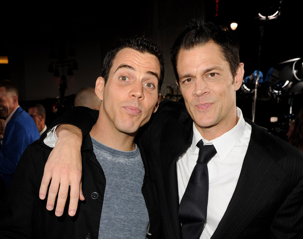 """Premiere Of Paramount Pictures And MTV Films' """"Jackass 3D"""" - Arrivals [jackass 3d,paramount pictures and mtv films,event,premiere,formal wear,suit,fun,smile,party,steve o,arrivals,johnny knoxville,chinese theater,mtv films,paramount pictures,premiere,premiere]"""