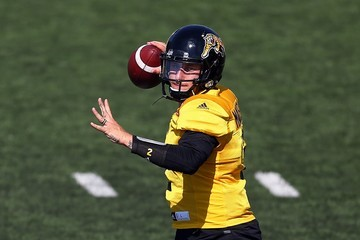 Johnny Manziel Hamilton Tiger-Cats Practice And Media Availability