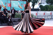 Sara Sampaio walks the red carpet ahead of the 'Joker' screening during the 76th Venice Film Festival at Sala Grande on August 31, 2019 in Venice, Italy.