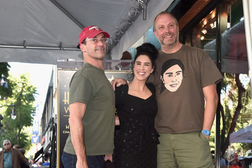 Jon Hamm Sarah Silverman Is Honored With A Star On The Hollywood Walk Of Fame