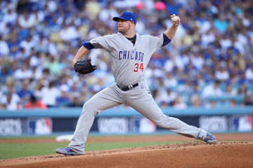 Jon Lester League Championship Series - Chicago Cubs v Los Angeles Dodgers - Game Two