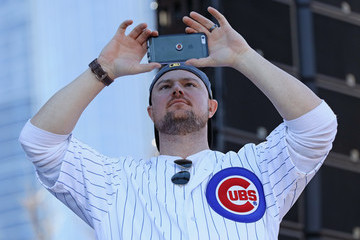 Jon Lester Chicago Cubs Victory Celebration