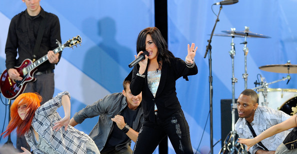 Singer Demi Lovato performs for ABC's 'Good Morning America' summer concert series at Rumsey Playfield on May 21, 2010 in New York City.