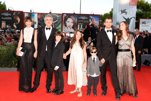 Family photo of the director, married to Annalisa Buglian, famous for Y Tu Mamá También & Gravity.