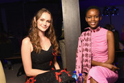 Andi Matichak and Flaviana Matata attend the Jonathan Cohen front row during New York Fashion Week: The Shows on February 7, 2019 in New York City.