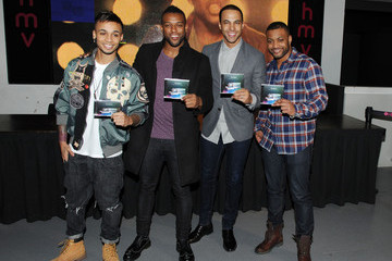 Jonathan Gill Marvin Humes JLS Sign Copies of Their Album in London