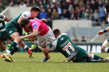 Jonathan Ross Leicester Tigers v Stade Francais Paris  - European Rugby Champions Cup Quarter Final