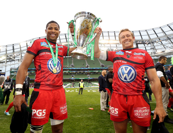 (FILE) In Profile: Jonny Wilkinson [team sport,team,player,sports,tournament,football player,ball game,stadium,championship,competition event,jonny wilkinson,delon armitage,captain,r,profile,file,toulon,heineken cup,victory,match]