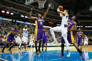 Jordan Hill Los Angeles Lakers v Dallas Mavericks