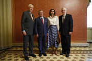 (L-R) U.S. Sen. Orrin Hatch (R-UT), King Abdullah II of Jordan, Queen Rania of Jordan and Senate Majority Leader Mitch McConnell pose for a photo at the U.S. Capitol on June 26, 2018 in Washington, DC. King Abdullah met with President Trump yesterday at the White House.