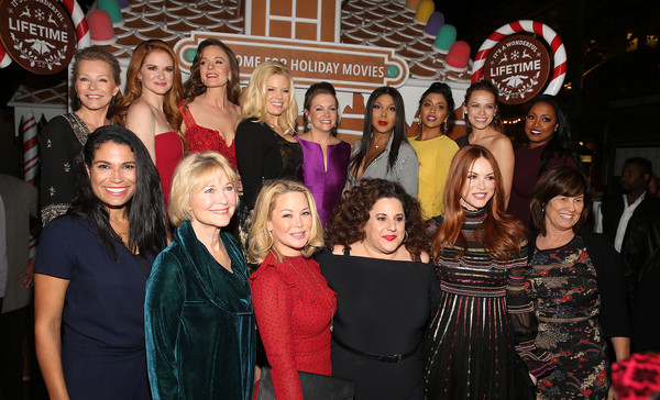 "In Celebration Of ""It's A Wonderful Lifetime,"" Stars Of The Network's Christmas Movies Attend The VIP Opening Night Of The Life-sized Gingerbread House"