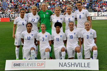 Jordan Nobbs Steph Houghton 2016 SheBelieves Cup - Germany v England
