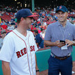 Jordan Speith Justin Thomas Throws First Pitch At Boston Red Sox Game