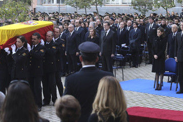 Jorge Fernandez Spanish Royals Attend State Funeral Held For Two Policemen Killed in Kabul