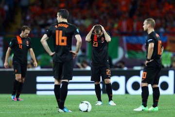 Joris Mathijsen UEFA EURO 2012 - Matchday 10 - Pictures Of The Day