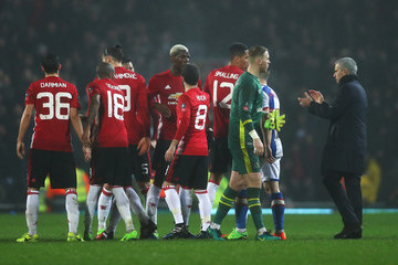 Jose Mourinho Blackburn Rovers v Manchester United - The Emirates FA Cup Fifth Round