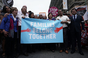 Joseph Crowley Activists Protest Trump Policy Of Separating Immigrant Children And Families