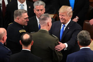 Joseph Dunford Trump Addresses the Nation in His First State of the Union Address to Joint Session of Congress