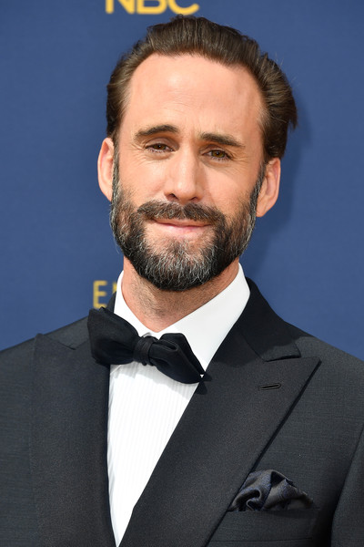 70th Emmy Awards - Arrivals [facial hair,hair,beard,moustache,chin,suit,hairstyle,forehead,white-collar worker,formal wear,arrivals,joseph fiennes,emmy awards,70th emmy awards,microsoft theater,los angeles,california]