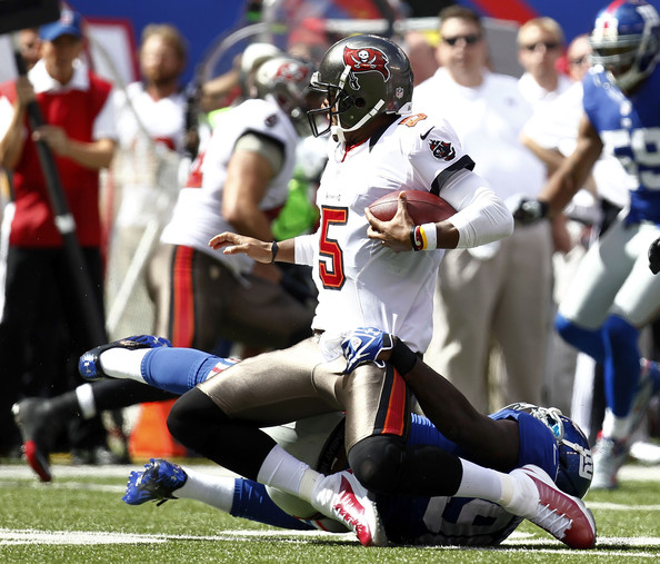 Jason Pierre Paul Bucs: Jason Pierre-Paul And Josh Freeman Photos