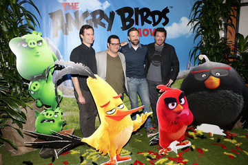 Josh Gad Jason Sudeikis Angry Birds Cast Photo Call with Jason Sudeikis, Josh Gad, Danny McBride and Bill Hader