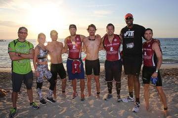 Josh Hopkins Celebrities Take Part In Life Time South Beach Triathlon