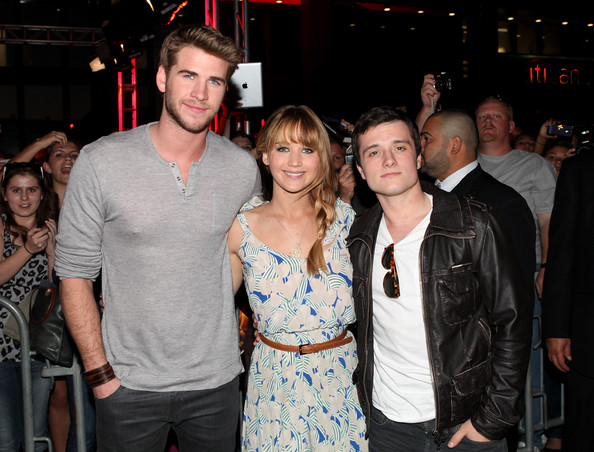 Josh Hutcherson Actors Liam Hemsworth, Jennifer Lawrence and Josh Hutcherson attend The Hunger Games U.S. Mall Tour Kick-Off at Westfield Century City on March 3, 2012 in Los Angeles, California.