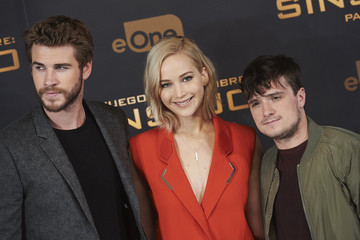 Josh Hutcherson Liam Hemsworth 'The Hunger Games: Mockingjay - Part 2' Madrid Photocall