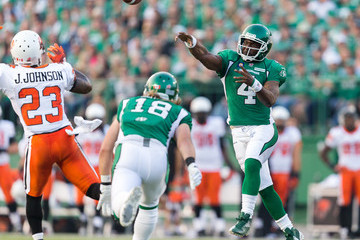 Josh Johnson BC Lions  v Saskatchewan Roughriders