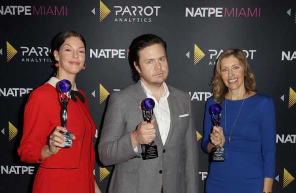 Parrot Analytics Presents The Global TV Demand Awards [parrot analytics presents the global tv demand awards,the walking dead,event,news conference,award,award ceremony,premiere,mcintosh,denise huth,josh mcdermitt,global tv demand award,fontainebleau hotel,miami beach,florida]