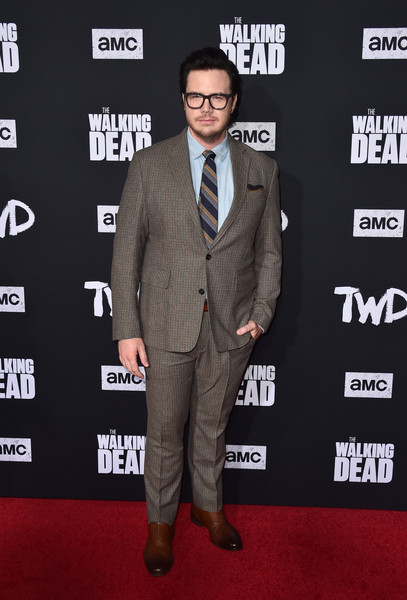 Special Screening Of AMC's 'The Walking Dead' Season 10 - Arrivals [the walking dead,season,suit,carpet,red carpet,premiere,formal wear,tuxedo,flooring,event,blazer,white-collar worker,arrivals,josh mcdermitt,hollywood,california,chinese,special screening of amc,screening]