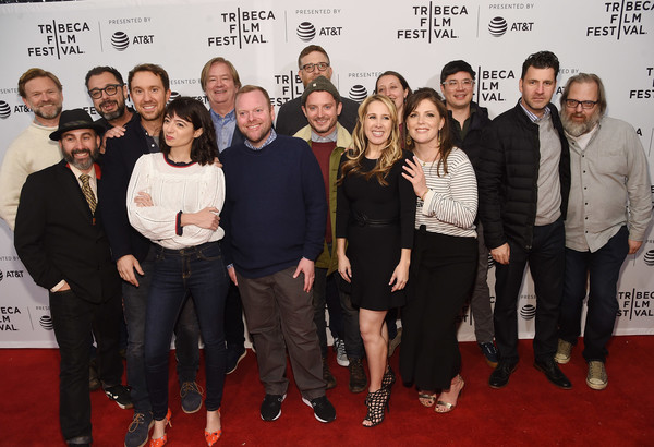 '7 Stages to Achieve Eternal Bliss By Passing Through The Gateway Chosen By the Holy Storsh' - Tribeca Film Festival [7 stages to achieve eternal bliss by passing through the gateway chosen,social group,event,red carpet,premiere,carpet,flooring,brian girard,fernando szew,hannah pillemer,stacy jorgensen,michael moran,sam huntington,holy storsh,tribeca film festival,screening]