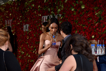 Jourdan Dunn FIJI Water At 2016 Tony Awards