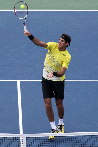 Juan Martin Del Potro Juan Martin Del Potro of Argentina returns a shot against Gilles Simon of France during Day Seven of the 2011 US Open at the USTA Billie Jean King National Tennis Center on September 4, 2011 in the Flushing neighborhood of the Queens borough of New York City.