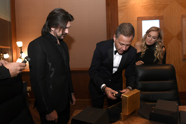 The 20th Annual Latin GRAMMY Awards – Person Of The Year Gala – Bulova Watch Gifting [event,suit,fun,businessperson,conversation,formal wear,tuxedo,house,ceremony,juanes,person of the year gala,michael benavente,latin grammy awards,bulova watch gifting,las vegas,nevada,latin recording academy,gala,person of the year]