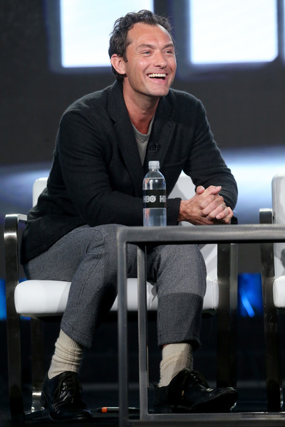 2017 Winter TCA Tour - Day 10 [the young pope,sitting,event,footwear,white-collar worker,conversation,performance,shoe,spokesperson,winter tca,jude law,langham hotel,pasadena,california,hbo,portion,winter television critics association press tour]