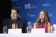 "(L-R) Producer David Gambino and producer Susan Downey of ""The Judge"" speak onstage at ""The Judge"" Press Conference during the 2014 Toronto International Film Festival at TIFF Bell Lightbox on September 5, 2014 in Toronto, Canada."