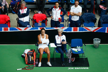 Judy Murray Heather Watson Fed Cup Europe/Africa Group One: Day 2