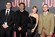 """(L-R) David Livingstone, Gabriel Yared, Renée Zellweger and a guest attend the """"Judy"""" premiere At Cinema Gaumont Marignan on February 04, 2020 in Paris, France."""