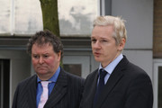 Wikileaks founder Julian Assange (R) speaks to the press with his lawyer Mark Stephens after appearing at Belmarsh Magistrates court on January 11, 2011 in London, England. Mr Assange was appearing in court today to fight against his extradition to Sweden, where he is sought for questioning over alleged sex crimes.