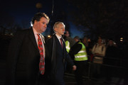 Mark Stephens (L), the lawyer representing WikiLeaks founder Julian Assange, and Julian Assange leave Belmarsh Magistrates Court on February 8, 2011 in London, England. Mr Assange is continuing his challenge to a proposed extradition from the UK to Sweden on grounds of alleged sexual assault against two women.