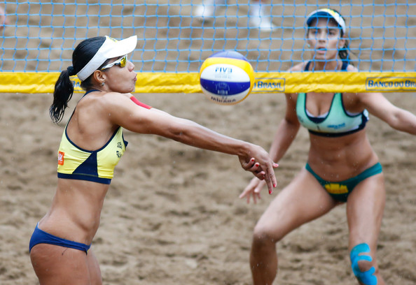 CBBVP Open Beach Volleyball - Final [volleyball,sports,net sports,volleyball player,beach volleyball,ball game,team sport,bikini,swimwear,r,agatha,action,juliana,brazil,guaruja,enseada beach,cbbvp open beach volleyball,final]