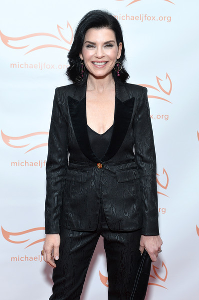 2019 A Funny Thing Happened On The Way To Cure Parkinson's - Arrivals [a funny thing happened on the way to cure parkinson,clothing,suit,hairstyle,outerwear,pantsuit,fashion,formal wear,blazer,tuxedo,long hair,arrivals,julianna margulies,happened on the way to cure parkinson,new york city,the michael j. fox foundation]