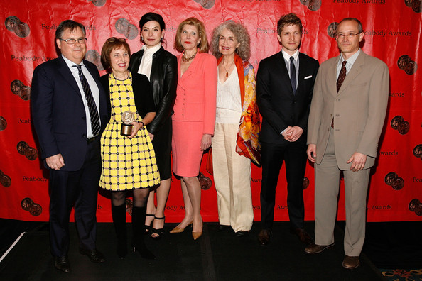 70th Annual Peabody Awards [event,suit,formal wear,l-r,peabody awards,annual peabody awards,david zucker,robert king,michelle king,matt czuchry,mary beth peil,christine baranski,julianna margulies]