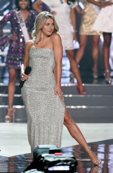 2016 Miss USA Competition - Show [fashion model,clothing,dress,fashion,shoulder,beauty,model,long hair,leg,haute couture,julianne hough,actress,stage,las vegas,nevada,t-mobile arena,miss usa competition - show,pageant,miss usa]